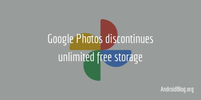 Google Photos discontinues unlimited free storage